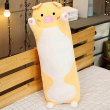 Load image into Gallery viewer, Cute Variety Animal Long Body Pillows-UwU Things-120CM (47 inches)-Yellow Pig-UwU Things