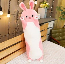 Load image into Gallery viewer, Cute Variety Animal Long Body Pillows-UwU Things-70CM (26 inches)-Pink Rabbit-UwU Things