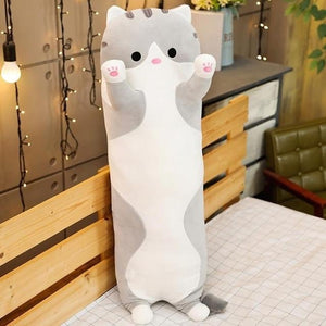 Cute Variety Animal Long Body Pillows-UwU Things-90CM (35 inches)-Gray Cat-UwU Things