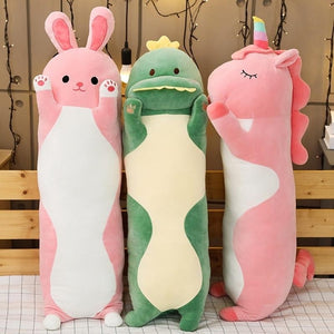 Cute Variety Animal Long Body Pillows-UwU Things-70CM (26 inches)-Green Dinosaur-UwU Things