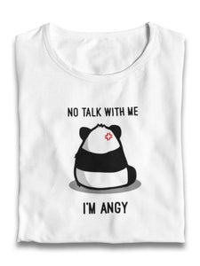 """Don't Talk To Me, I'm Angy"" Graphic Panda Unisex T-Shirt-Shirts-Fuel-Solid Black Blender-XS-UwU Things"
