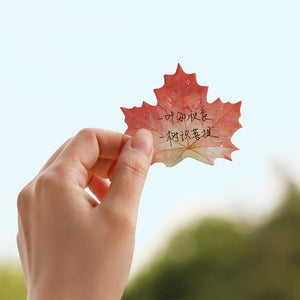 Elegant Natural Leaf Sticky Notes-UwU Things