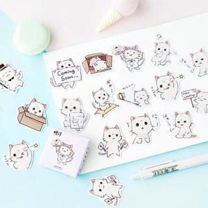 Endearing Meng Cat Stickers (45 pc)-UwU Things