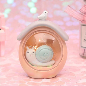 Fantasy Snail Night Light-UwU Things-Pink Home-UwU Things