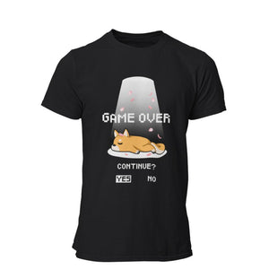 Game Over Shiba Unisex T-Shirt-Apparel-Fuel-XS-UwU Things