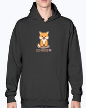 "Load image into Gallery viewer, ""Hey Cutie!"" Shiba Hoodie-Apparel-Fuel-Black-S-UwU Things"