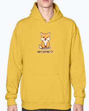 "Load image into Gallery viewer, ""Hey Cutie!"" Shiba Hoodie-Apparel-Fuel-Gold-S-UwU Things"