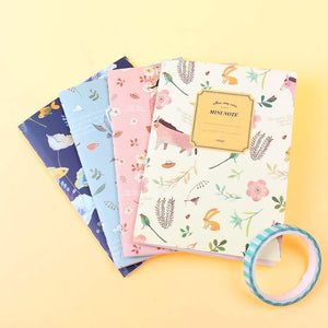 Kawaii Variety Flowers & Animals Diary (4 pc)-UwU Things