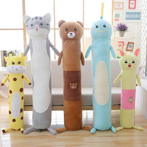 Long Boy Animal Body Pillow-UwU Things-90cm (3 ft)-Light Gray Cat-UwU Things