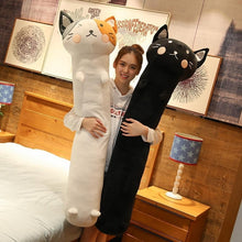 Load image into Gallery viewer, Long Boy Animal Body Pillow-UwU Things-90cm (3 ft)-Light Gray Cat-UwU Things