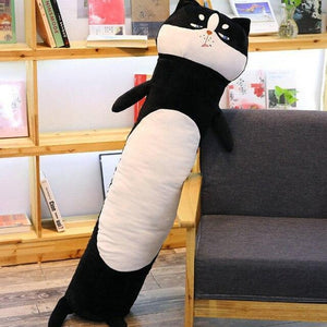 Long Boy Animal Body Pillow-UwU Things-90cm (3 ft)-Black Cat-UwU Things