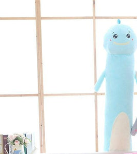 Long Boy Animal Body Pillow-UwU Things-90cm (3 ft)-Blue Dino-UwU Things