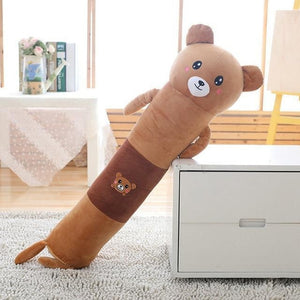 Long Boy Animal Body Pillow-UwU Things-90cm (3 ft)-Brown Bear-UwU Things