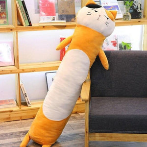 Long Boy Animal Body Pillow-UwU Things-90cm (3 ft)-Brown Cat-UwU Things