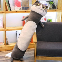 Load image into Gallery viewer, Long Boy Animal Body Pillow-UwU Things-90cm (3 ft)-Dark Gray Cat-UwU Things