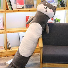 Load image into Gallery viewer, Long Boy Animal Body Pillow-UwU Things-90cm (3 ft)-Gray Shiba-UwU Things