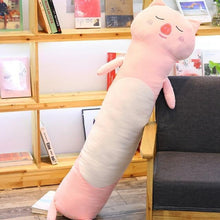 Load image into Gallery viewer, Long Boy Animal Body Pillow-UwU Things-90cm (3 ft)-Pink Pig-UwU Things