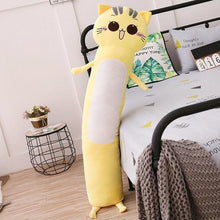 Load image into Gallery viewer, Long Boy Animal Body Pillow-UwU Things-90cm (3 ft)-Yellow Cat-UwU Things