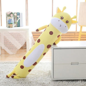 Long Boy Animal Body Pillow-UwU Things-90cm (3 ft)-Yellow Giraffe-UwU Things