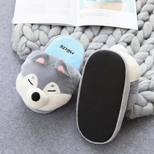 Shiba Inu & Husky Soft Cotton Slippers-UwU Things