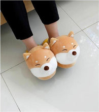 Load image into Gallery viewer, Shiba Inu & Husky Soft Cotton Slippers-UwU Things