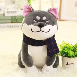 Smug Shiba Inu Plush-UwU Things-Gray-UwU Things