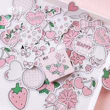 Load image into Gallery viewer, Strawberry Flavored Stickers (45 pc)-UwU Things