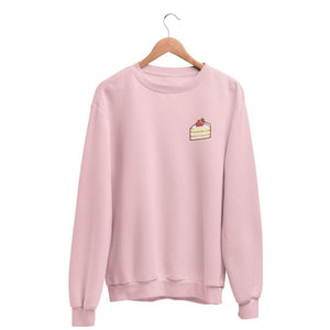 Tiny Strawberry Shortcake Graphic Sweatshirt-Apparel-Fuel-Light Pink-S-UwU Things