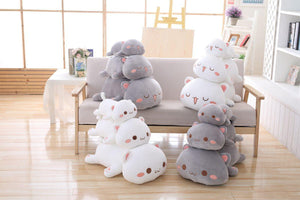 UwU & OwO Lying Cat Plush-UwU Things-35cm (14 inches)-UwU White Cat-UwU Things