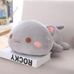 UwU & OwO Lying Cat Plush-UwU Things-65cm (26 inches)-OwO Gray Cat-UwU Things