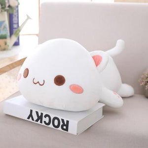 UwU & OwO Lying Cat Plush-UwU Things-65cm (26 inches)-OwO White Cat-UwU Things