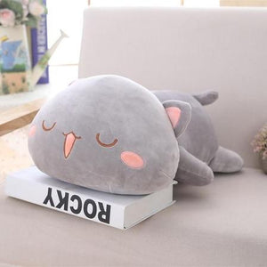 UwU & OwO Lying Cat Plush-UwU Things-65cm (26 inches)-UwU Gray Cat-UwU Things