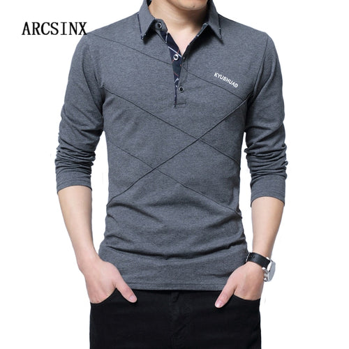 Men's Long Sleeve Polo Shirt - Style For Guys