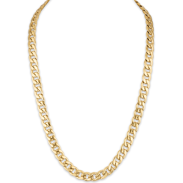 "The Men's Corner Cuban Link (11.75mm) 22"" Chain Bracelet in 14k Gold Toned Ion-Plated over Stainless Steel"