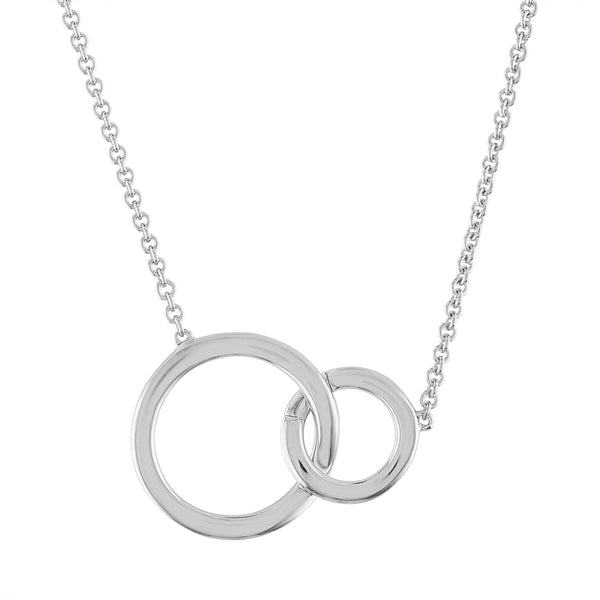 Miracle Links Gold,Sterling Silver Necklace - for New Mom's or New Baby Gifts - Add as Your Family Grows - Necklace with Two Charms (Silver Necklace & Charm)