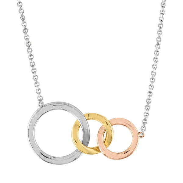 Miracle Links Gold, Rose Gold, Sterling Silver Necklace - for New Mom's or New Baby Gifts - Add as Your Family Grows - Necklace with Two Charms (Silver Necklace & 2 Charms)