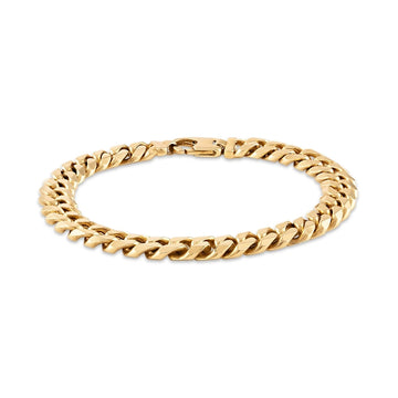 Esquire Men's Jewelry 14kt Gold over Sterling Silver 9.15x3.6mm Diamond Cut Curb Link Bracelet, 8.50