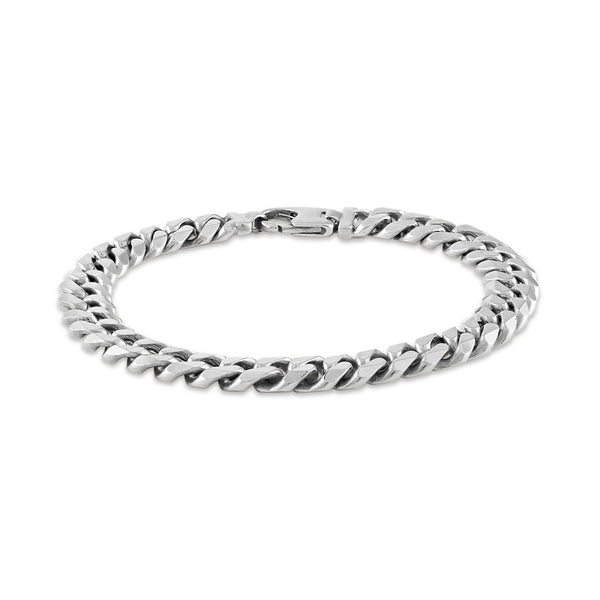 Esquire Men's Jewelry Sterling Silver 9.15x3.6mm Diamond Cut Curb Link Bracelet, 8.50""