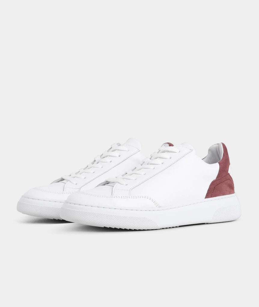 GARMENT PROJECT WMNS Off Court - White / Burgundy Shoes 100 White