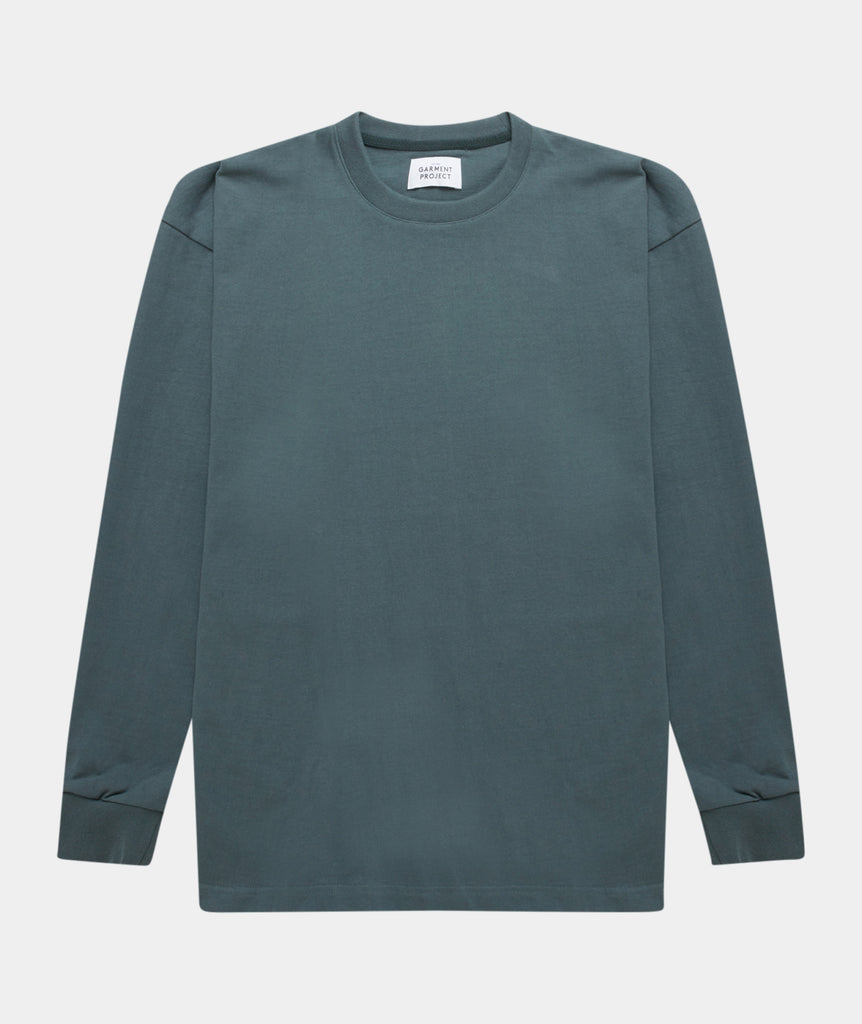 GARMENT PROJECT MAN Crew Neck Sweat - Balsam Green Crew Neck Sweat 245 Balsam Green