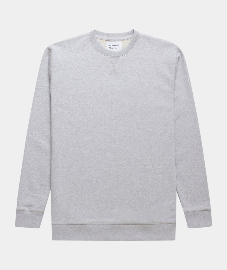 GARMENT PROJECT MAN Crew Neck Sweat - Grey Melange Crew Neck Sweat 333 Grey Melange