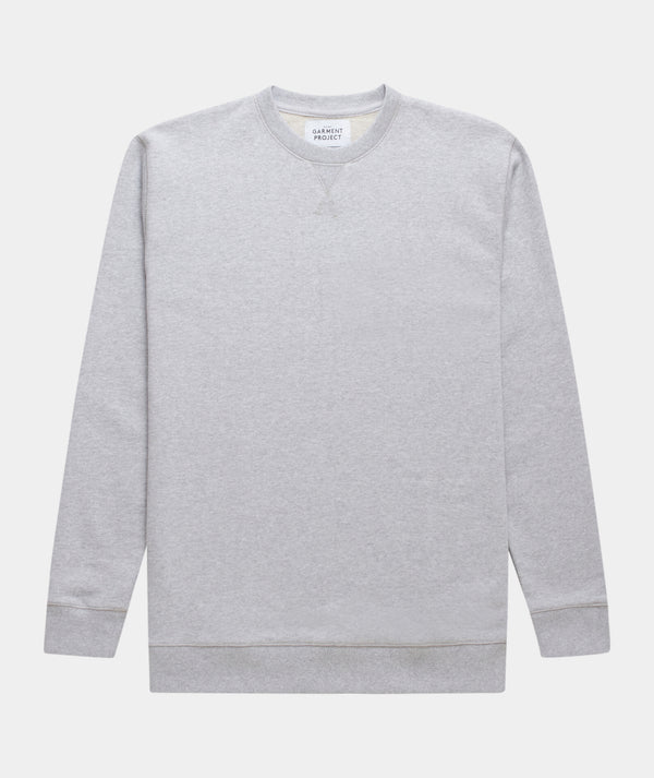 Crew Neck Sweat - Grey Melange