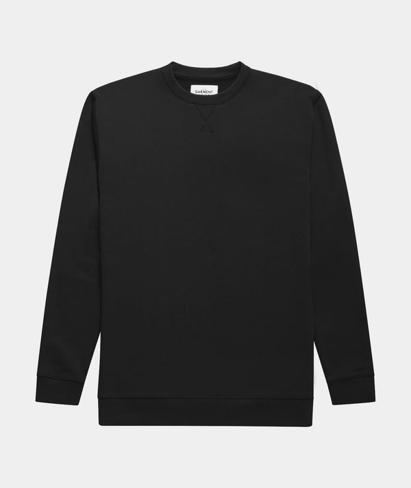 Crew Neck Sweat - Jet Black