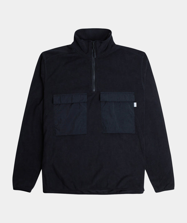 Half Zip Fleece - Jet Black