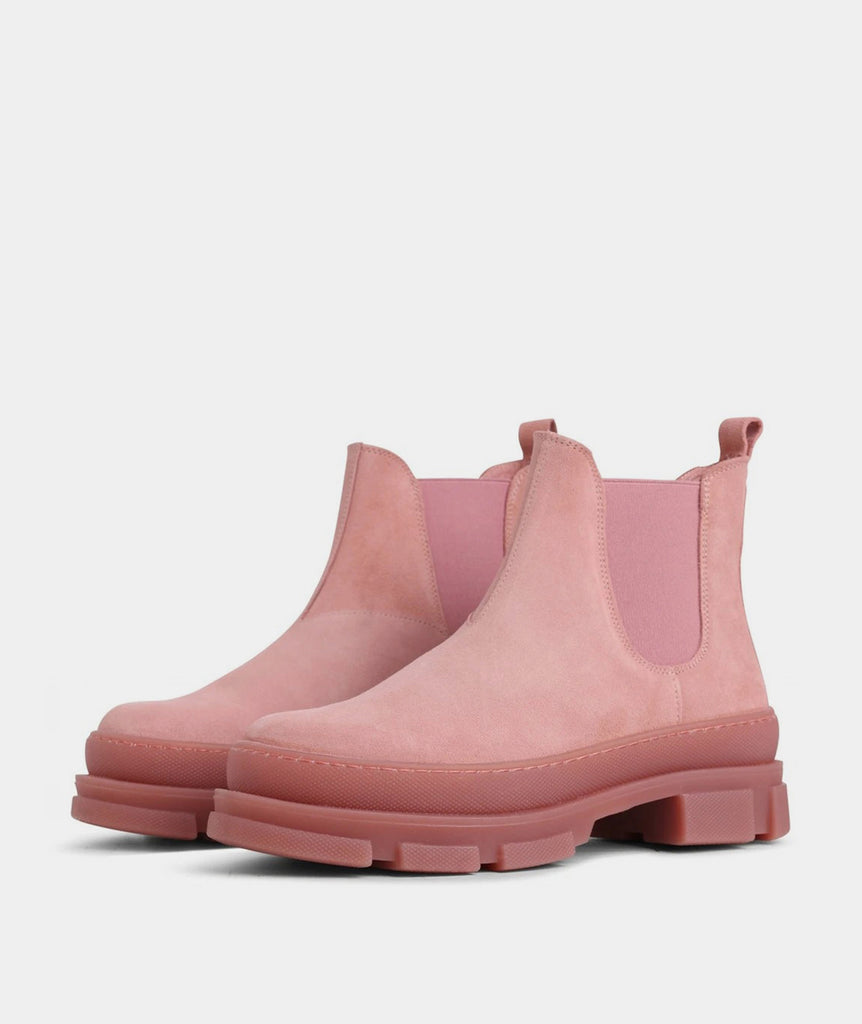 GARMENT PROJECT WMNS Irean Chelsea - Baby Pink Suede Boots 700 Baby Pink