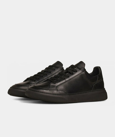 Off Court - All Black Leather