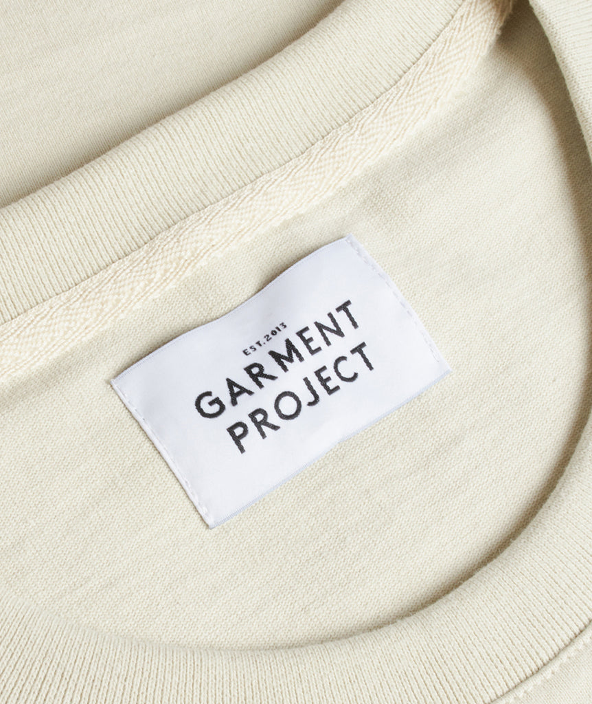 GARMENT PROJECT MAN S/S OverSize Tee - Bone White T-shirt 111 Bone White
