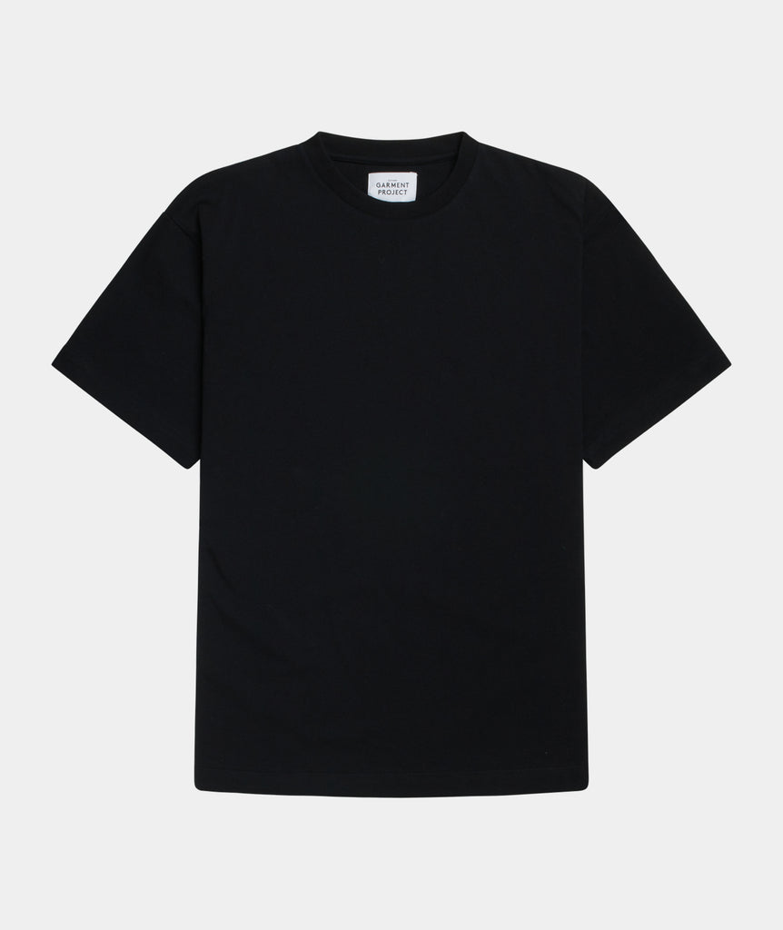 GARMENT PROJECT MAN S/S OverSize Tee - Jet Black T-shirt 999 Black