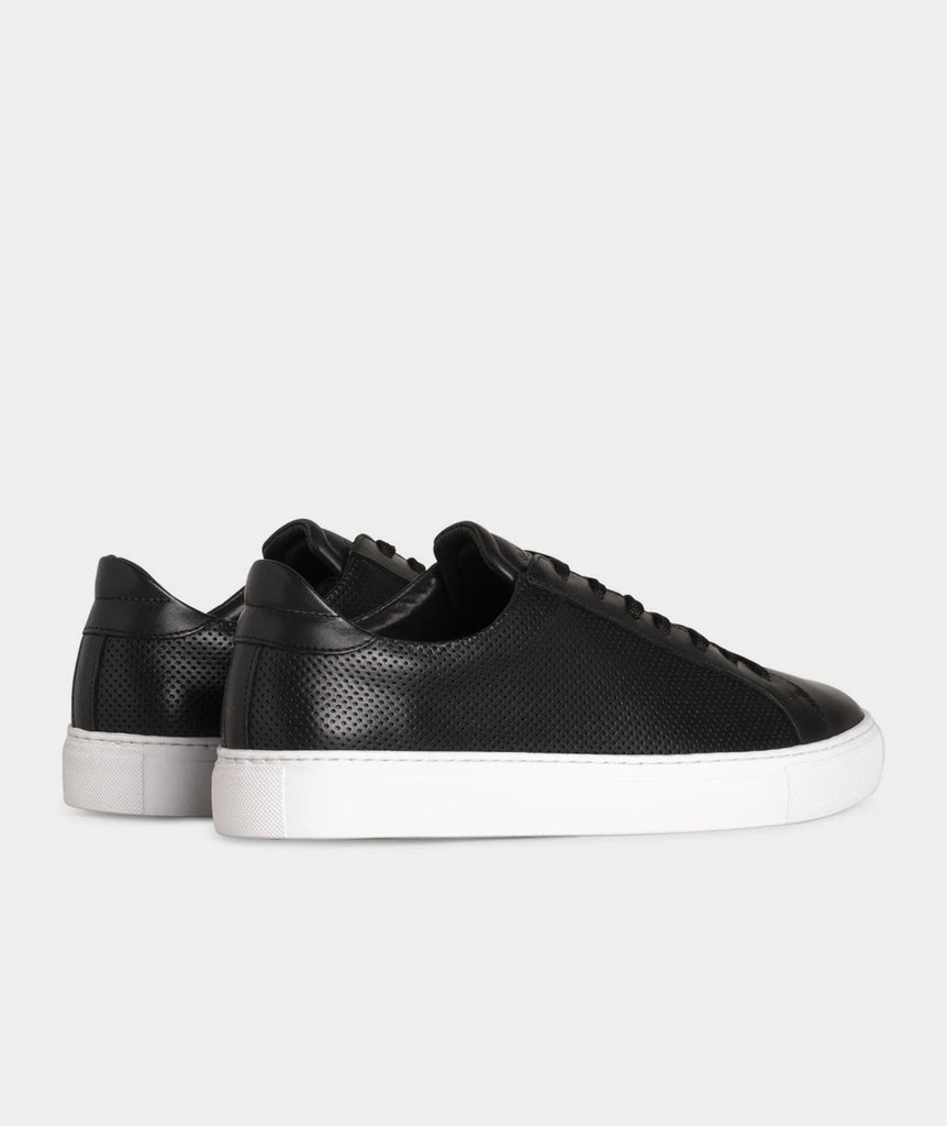GARMENT PROJECT MAN Type - Black Perforated Leather Sneakers 999 Black