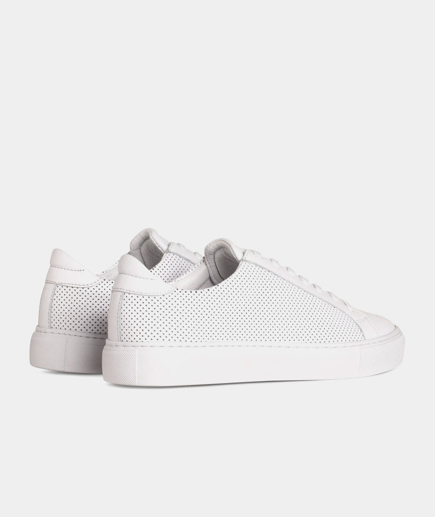 GARMENT PROJECT MAN Type - White Perforated Leather Sneakers 100 White